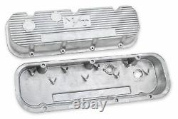 Holley 241-87 M/t Valve Covers For Big Block Chevy Engines Natural Cast Finish