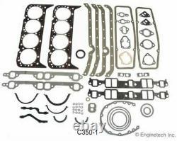 Kit De Reconstruction Moteur Principal Avec Pistons À Toit Plat 1969-1985 Chevrolet Sbc 350 5.7l