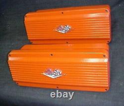 Larson Engineering Valve En Aluminium Couvre Chevy Sbc Petit Bloc 327 350 Rat Rod
