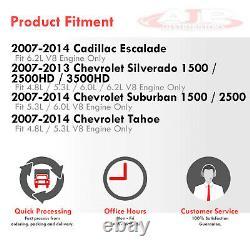 Long Tube Exhaust Manifold Header + Y-pipe Pour 2007-2013 Sierra Silverado Gmt V8