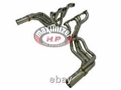 Mhp S/s Long Tube Small Block Header Pour Corvette 63-67 C2, 65-82 C3 Stingray