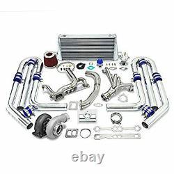 Mise À Niveau Haute Performance Gt45 T4 10pc Turbo Kit Chevy Small Block Sbc Engine 350