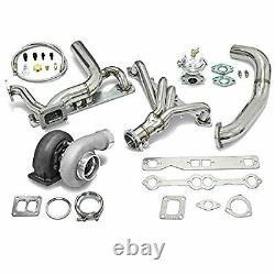 Mise À Niveau Haute Performance Gt45 T4 5pc Turbo Kit Chevy Small Block Sbc Engine 350