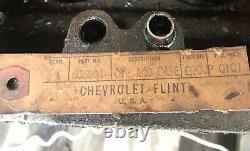 Nos G506 Chevy Bloc Moteur Avec Pistons Anneaux Cam Roulements Ww2 Army Truck 235