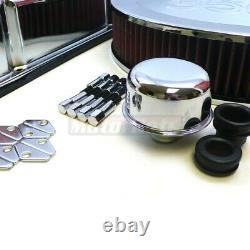 Petit Bloc Chevy Sbc Chrome 350 Logo Engine Dress Up Kit Valve Cover Washable