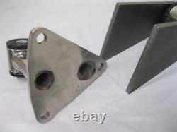 Petite - Big Block Chevy Weld Dans Street Rod Engine Motor Mounts Kit Stainless