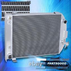 Pour 32 Ford Hi-boy Street Rod Chevy Sbc Moteur V8 M/t Tri Core Radiateur En Aluminium