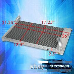 Pour 69-72 Chevy Corvette Petit Bloc 350 5.7l V8 Tri-core 3row Aluminium Radiateur
