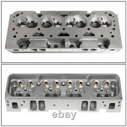 Pour Sbc Small Block 327 350 Chevy Moteur En Aluminium Nu Culasse 68cc Angled
