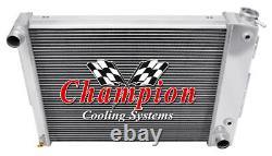 Radiateur Champion Perf 4 Rangées Pour 1967 1969 Chevrolet Camaro Small Block Engine