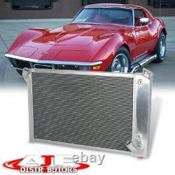 Radiateur De Refroidissement En Aluminium Complet Tri Core 3-row Pour La Corvette C3 5,7l V8 1969-1972