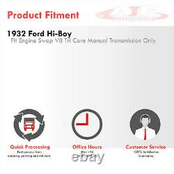 Radiateur En Aluminium De Grille 3-row Shell Pour 1932 Ford Hi-boy Hot Rod Chevy Sbc V8 Mt