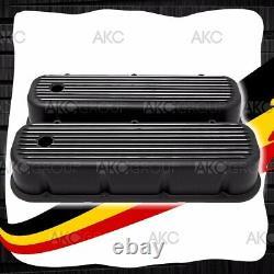 Revêtement En Aluminium Finé Noir Pour 65-95 Chevy Bb 396 427 454 502