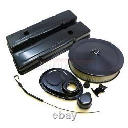 Sbc Chevy Black Engine Dress Up Kit Courte Valve Couvre Air Cleaner Petit Bloc
