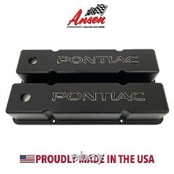 Small Block Chevy Tall Valve Covers With Pontiac Logo (chevy Engine Blocks Only)