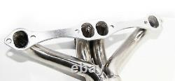 Twin Ss Header/manifold Pour 66-96 Chevy Small Block V8 Angle Plug Head