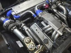 Twin Turbo Header Kit Gt35 Pour 68-72 Chevrolet Chevelle Sbc Small Block Engine