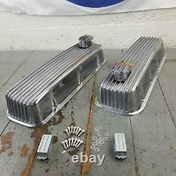 Valve De Moteur En Aluminium Fin Avec Respirateurs Pcv Big Block Chevy Bb 427 454